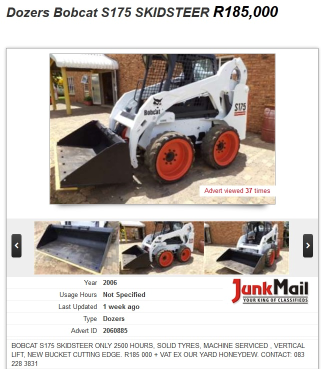 Dozers-Bobcat-S175-Skidsteer-for-sale-South-Africa