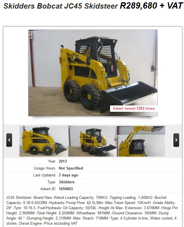 Skidders-Bobcat-JC45-Skidsteer-for-sale-South-Africa