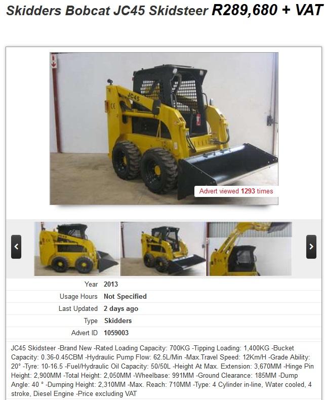 Skidders-Bobcat-JC45-Skidsteer-for-sale-South-Africa