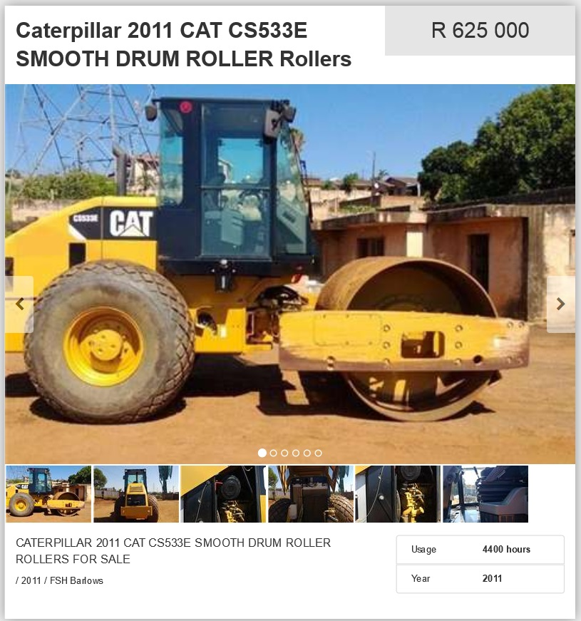 Caterpillar-Smooth-Drum-Roller-For-Sale