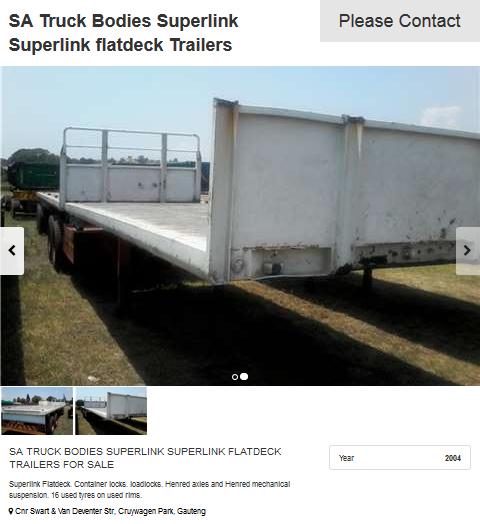 Superlink-Flat-bed-Trailer-2004 model-for-sale