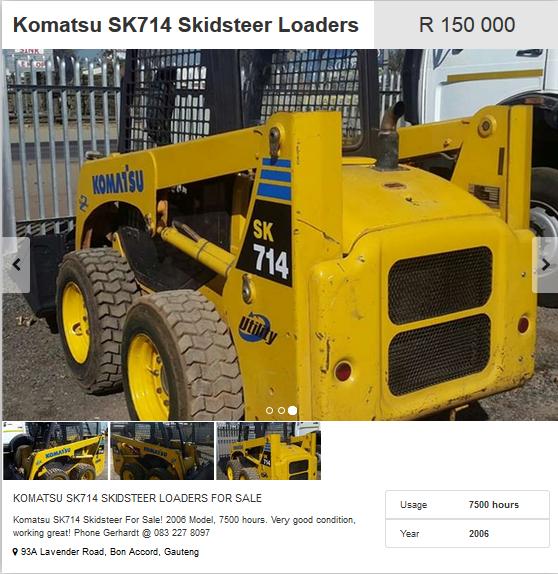 Komatsu-SK714-Skidsteer-Loaders
