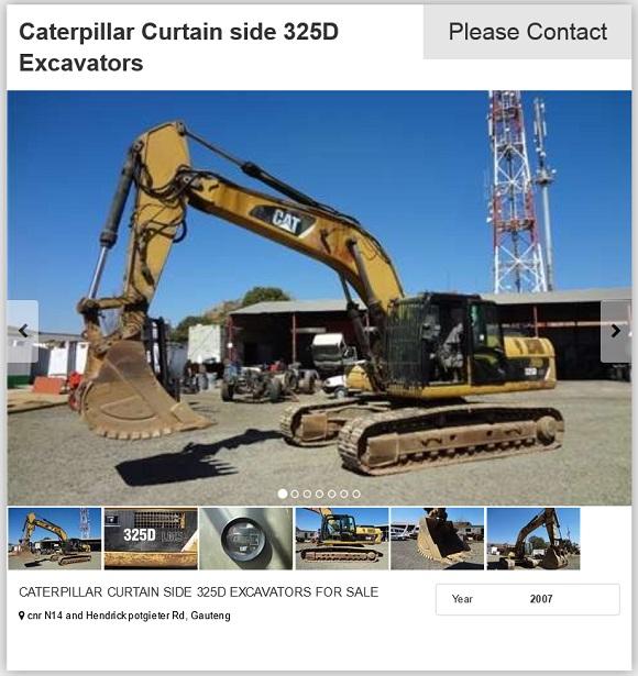 Caterpillar-Curtain-side-325D-Excavator-for-sale