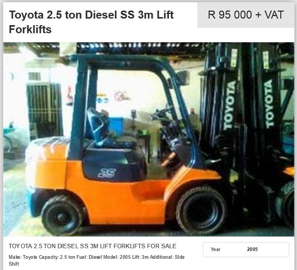 Toyota-2.5ton-Diesel-Forklift-for-sale