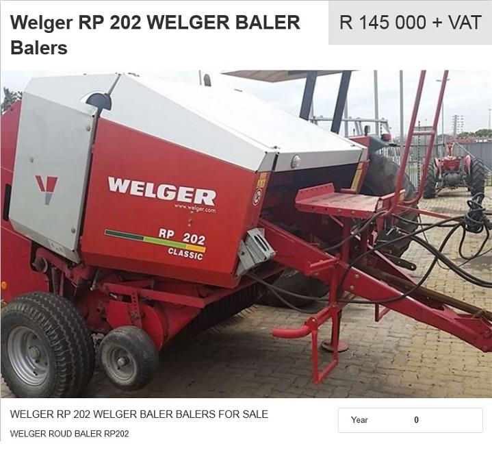 Welger-RP-202-Baler-for-sale