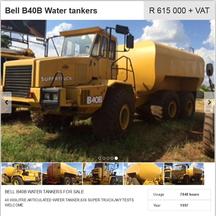 BELL B40B Water Tanker for sale