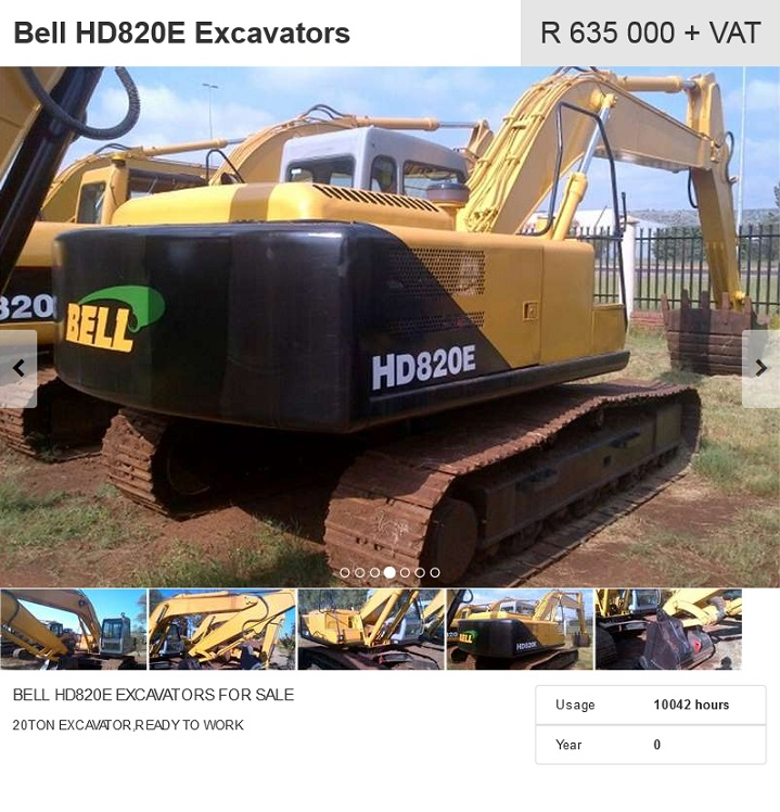 Bell-HD820E-Excavator-for-sale