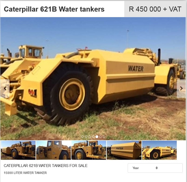 Caterpillar-621B-Water-Tanker-for-sale