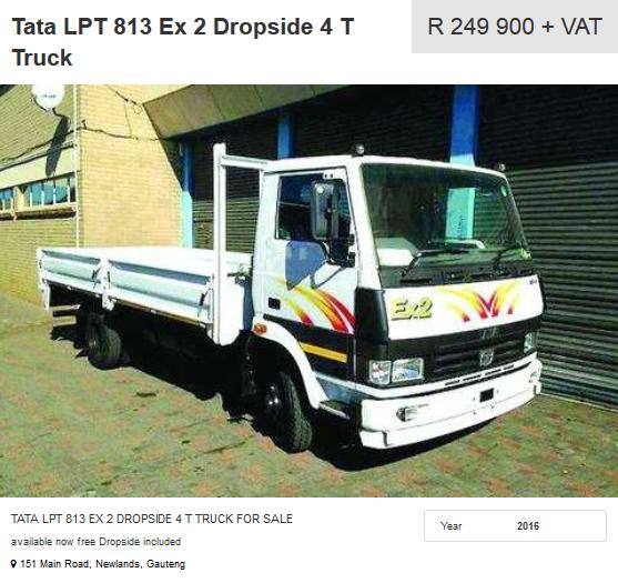 Tata-LPT-813-Ex 2 Dropside 4-T-Truck
