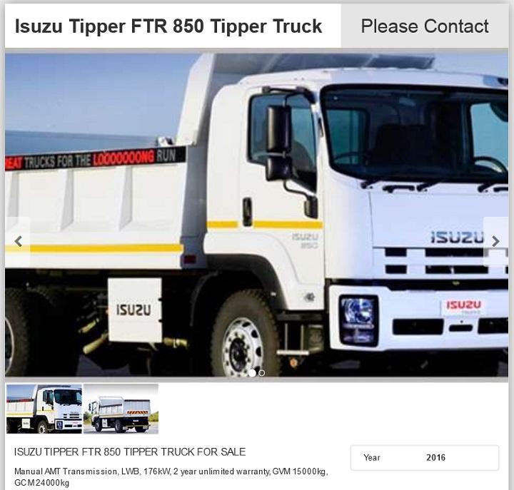 Isuzu-FTR-850-Tipper-for-sale
