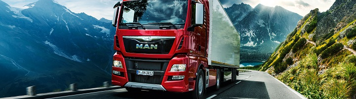 Man-truck-background