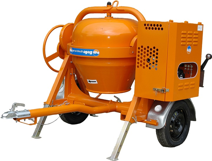 gas concrete mixer