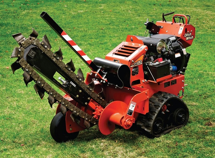 Trencher Designed To Dig Trenches With Power And