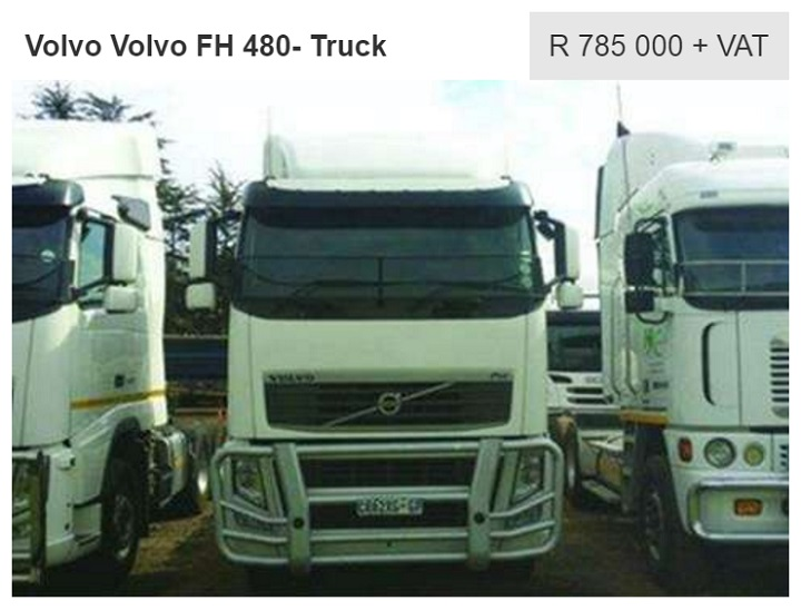 fh480 volvo trucks for sale