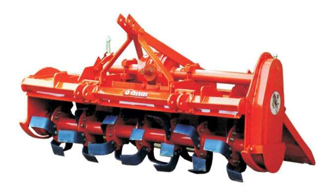 a rotavator used for soil preperation