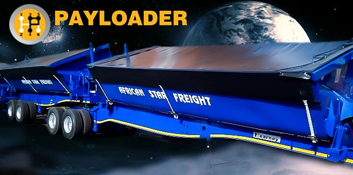 payloader side tipper trailer