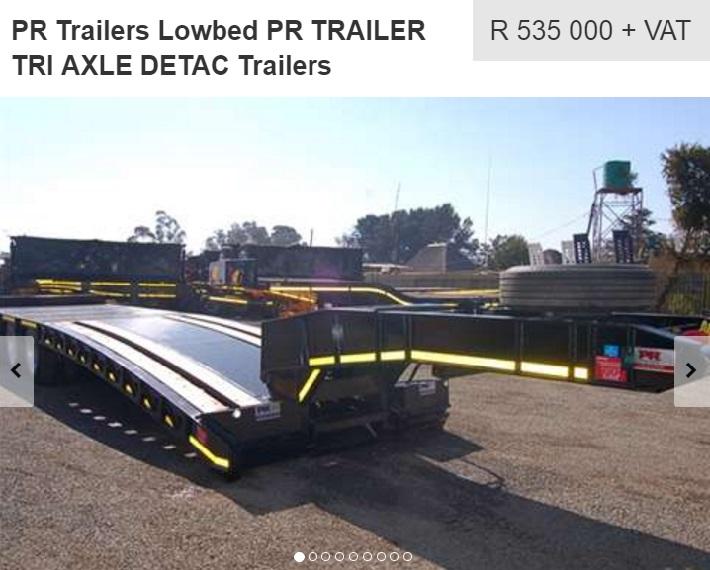 lowbed pr trailer