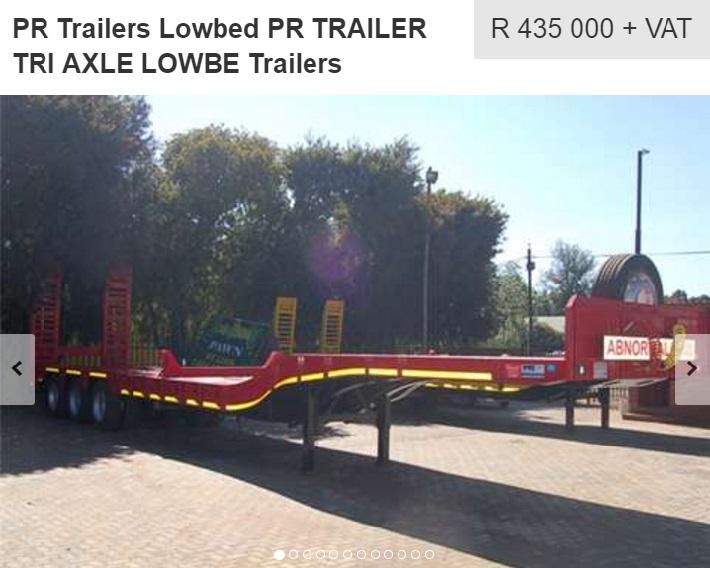 pr tri axle trailer for sale