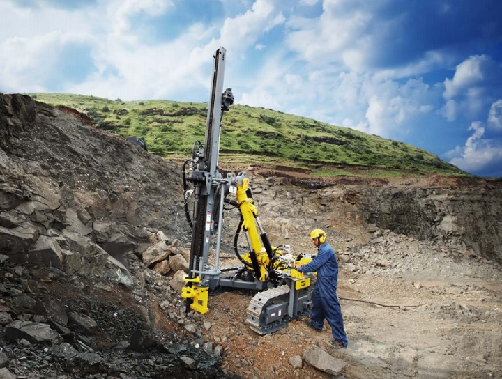 drill rig from atlas copco