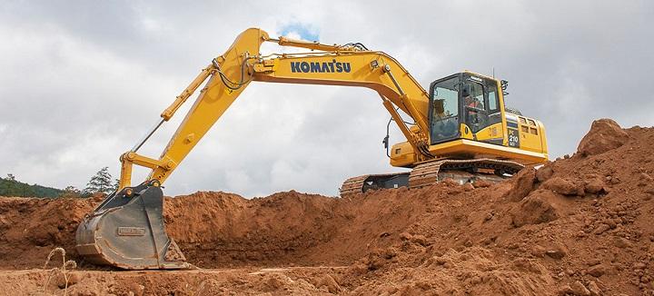 komatsu branded excavator