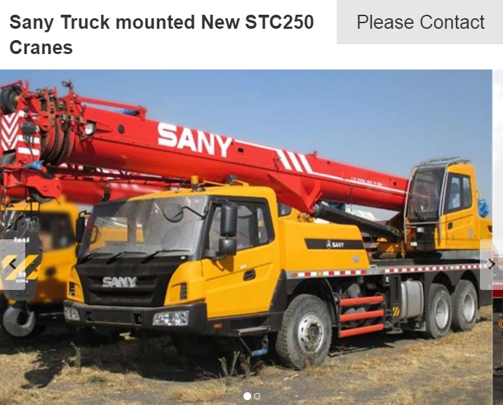 sany stc250 for sale