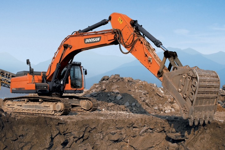 dx340lca excavator form doosan