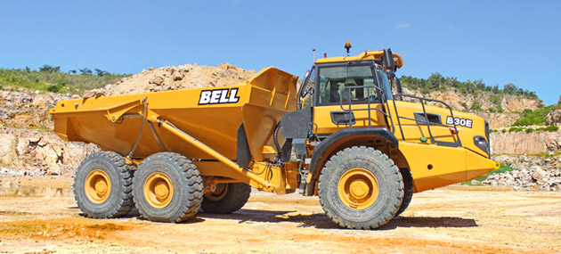 articulated dump truck from bell