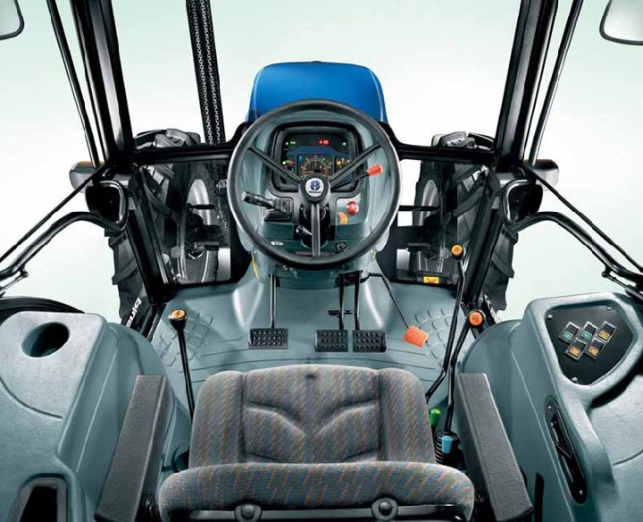 interior of the td 80 new holland tractor