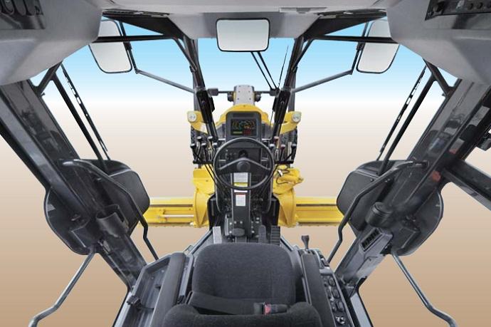 gd555 komtasu grader cab interior