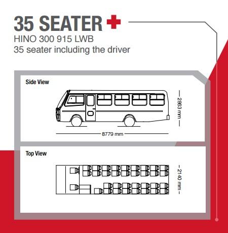 hino 35 seater bus