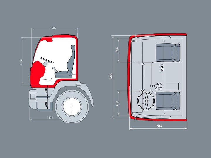 can dimensions of the man cla trucks