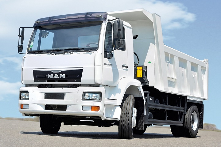 tipper truck from the man cla series