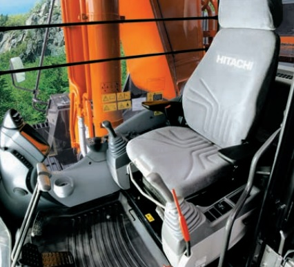 cab of the zaxis 5g r