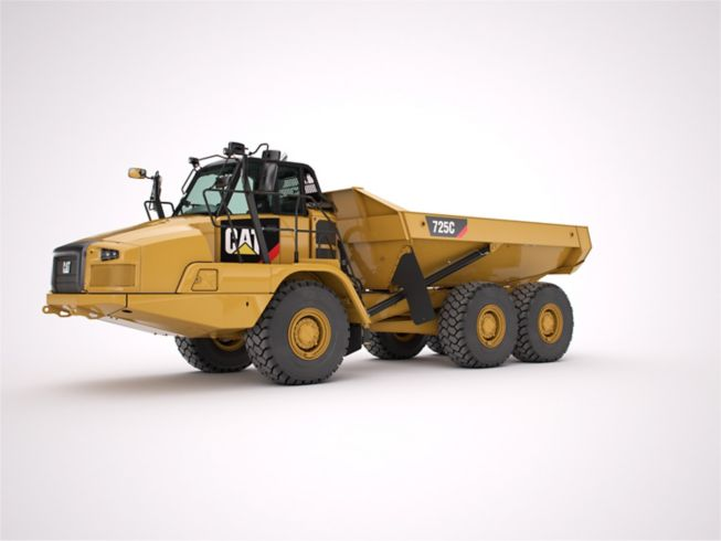the 725c cat side view