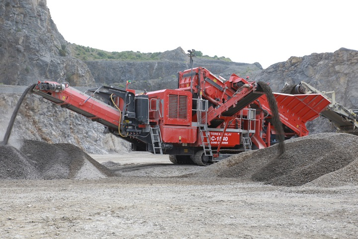 terex finlay c1540 dual power crusher