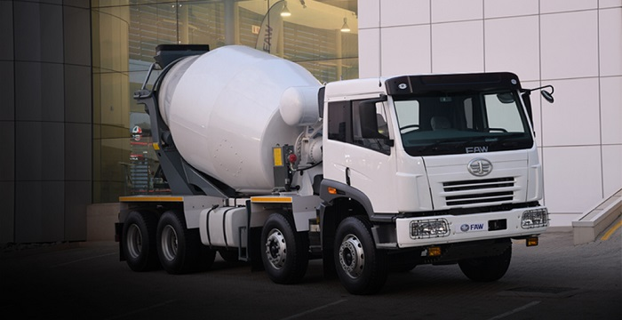 concrete mixer by faw