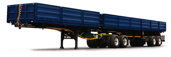 afrit dropside tipper trailer