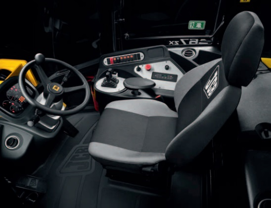 the operator seat of the kemach jcb wheel loader