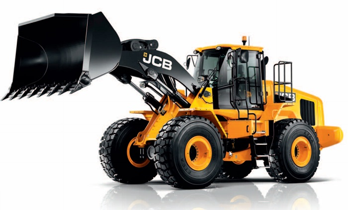 lifted loader of the jcb 467 zx