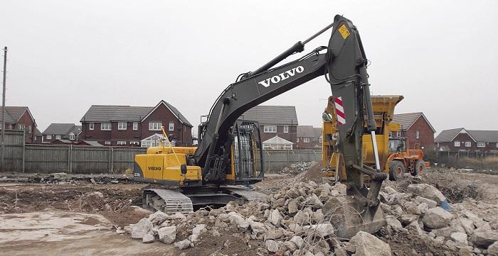 crawler excavator ec210b