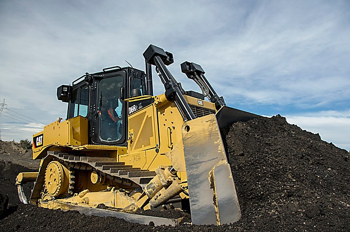 bulldozer by cat