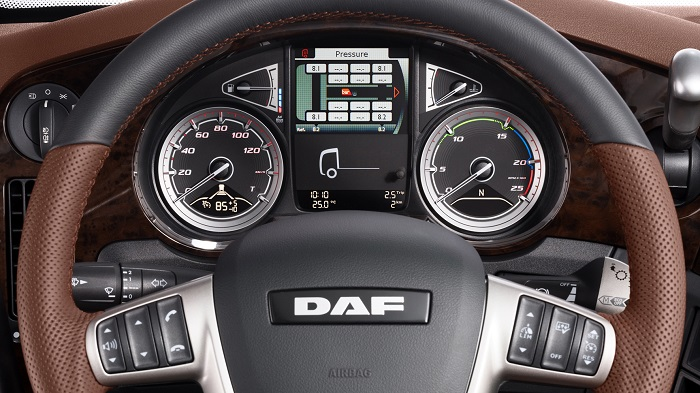 driver's view in the daf xf