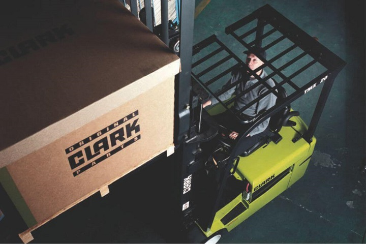 working forklift by clark