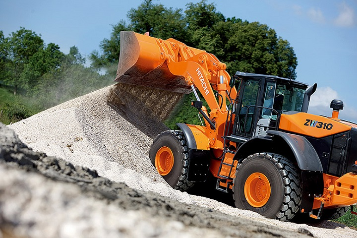 wheel loader by hitachi