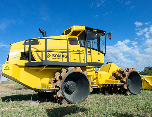soil compactor by bomag