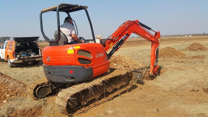 excavate kubota excavator