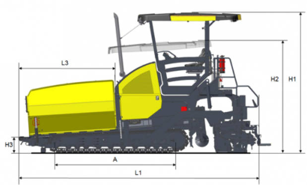 Dynapac F2500CS Paver Side View | Truck And Trailer