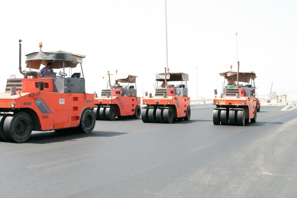 construction vehicle, construction equipment, hamm rollers