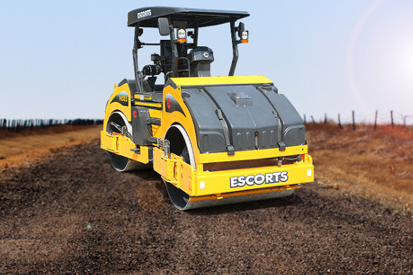 Escorts HD85 Asphalt & Soil Compaction Roller | Truck & Trailer