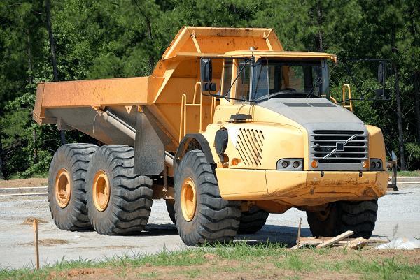 Dump trucks for construction projects